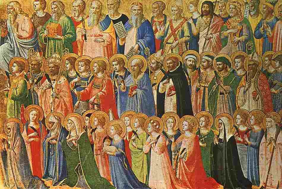 The Forerunners of Christ with Saints and Martyrs, a painting by Fra Angelico, siglo XV